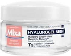 Mixa Krem na noc dla skóry wrażliwej skłonnej do sucha Hyalurogel (Hydrating -Mask Overnight Recovery) Cr