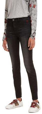 Desigual jeansy damskie Denim Basic 2nd Skin 28 czarne