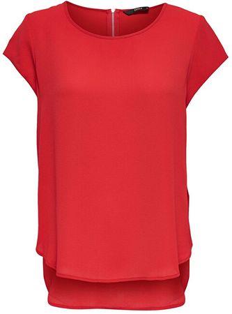 ONLY Damska bluzka ONLVIC S / S SOLID TOP NOOS WVN High ryzyko Red (rozmiar 34)