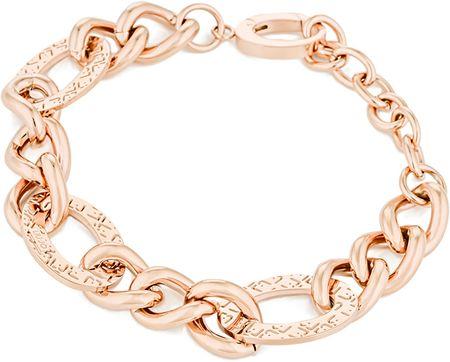 Liu Jo Rózsaszín aranyozott acél karkötő LJ1156
