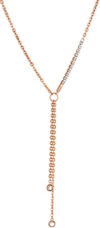 Liu Jo Rózsaszín aranyozott acél nyaklánc LJ1326
