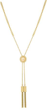 Liu Jo Pozlačena jeklena ogrlica z obrobami LJ1296