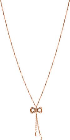 Liu Jo Rózsaszín aranyozott acél nyaklánc LJ1290 szalaggal