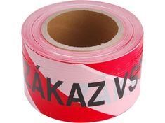 Extol Craft Páska výstražná červeno-bílá ZÁKAZ VSTUPU, 75mm x 250m, PE