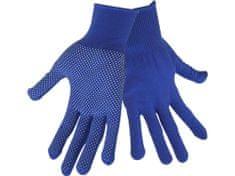 """Extol Craft Rukavice z polyesteru s PVC terčíky na dlani, velikost 8"""""""