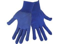 """Extol Craft Rukavice z polyesteru s PVC terčíky na dlani, velikost 10"""""""