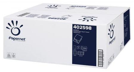 Papernet Ecolabel Superior toaletni papir v lističih, 2-slojni, 40 zvitkov