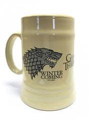 Game of Thrones Keramický Korbel Hra o trůny - Stark béžový