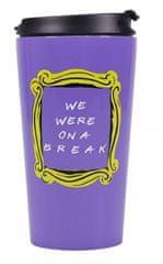 Friends Cestovní hrnek Přátelé - We are on a Break, fialový