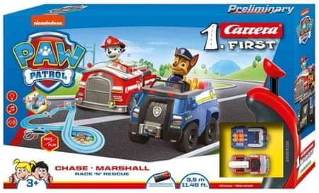 CARRERA Autóverseny-pálya FIRST - 63032 PAW Patrol Chase és Marshall Race N Rescue