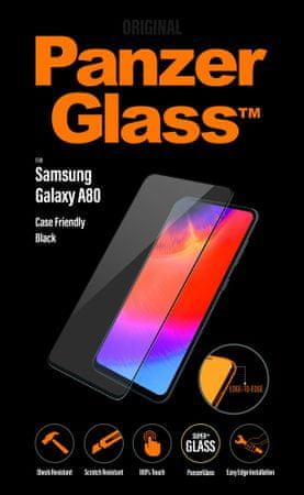 PanzerGlass zaščitno steklo za Samsung Galaxy A80, črno