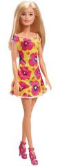 Mattel Barbie panenka žluté šaty