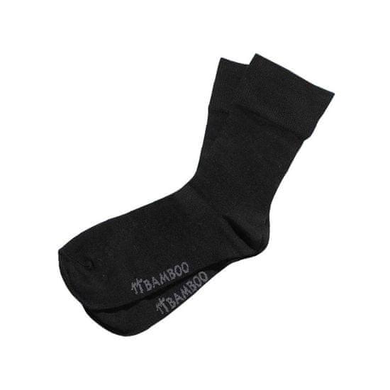Gino Ponožky bamboo bezešvé klasické černé - velikost L