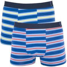 Molvy 2PACK pánské boxerky vícebarevné (KP-043-BEU)