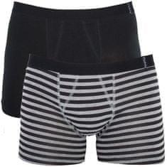 Molvy 2PACK pánské boxerky vícebarevné (KP-038-BEU)