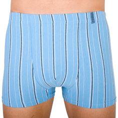 Molvy Pánské boxerky světle modré s proužky