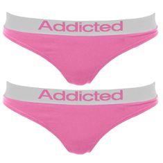 Addicted 2pack dámská tanga růžová