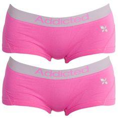 Addicted 2PACK dámské kalhotky růžové