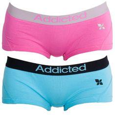 Addicted 2PACK dámské kalhotky růžová modrá