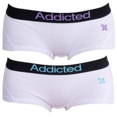Addicted 2PACK dámske nohavičky bielo modrá bielo fialová