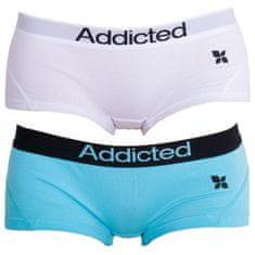 Addicted 2PACK dámské kalhotky modrá bílá