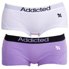 Addicted 2PACK dámské kalhotky fialová bílá