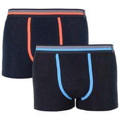 Molvy 2PACK pánské boxerky černé (KP-024-BEU)