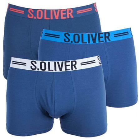s.Oliver 3PACK pánské boxerky modré (26.899.97.4229.12C1) - velikost M