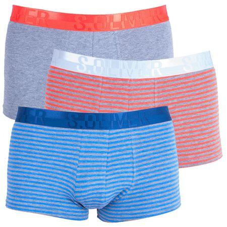 s.Oliver 3PACK pánské boxerky vícebarevné (26.899.97.4215.16B1) - velikost M