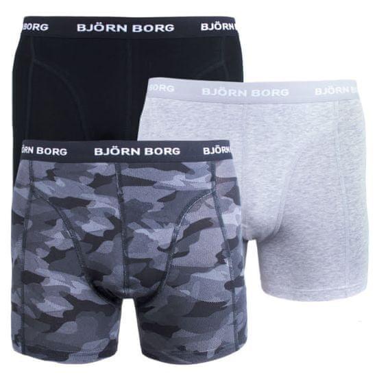 Björn Borg 3PACK pánské boxerky vícebarevné (9999-1132-90651) - velikost M