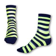 Styx Ponožky crazy modro žluté proužky (H323)
