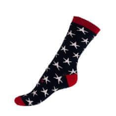 Styx Ponožky crazy modré s hvězdami (H330)