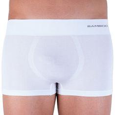 Gino Pánské boxerky bezešvé bambusové bílé (53005)