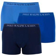 Ralph Lauren 3PACK pánské boxerky modré (714513424010)