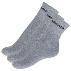 Head 3PACK ponožky šedé (771026001 400)
