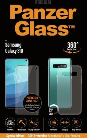 PanzerGlass zaščitno steklo in ovitek za Samsung Galaxy S10