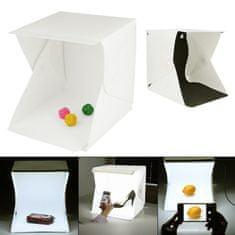 Captor prenosni foto studio z LED osvetlitvijo, 30x30x30 cm