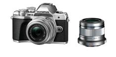 Olympus OM-D E-M10 III fotoaparat, srebrni + 14-42mm II R objektiv, srebrni + 45mm 1:1,8
