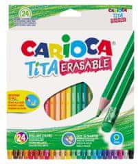 Carioca barvice Haxagonalne Tita, 1/24, tanke z radirko