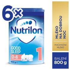 Nutrilon 1 Good Sleep počáteční kojenecké mléko 6x 800 g, 0+