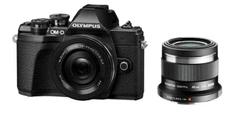 Olympus OM-D E-M10 III fotoaparat, crni + 14-42mm 1:3.5-5.6 EZ objektiv, crni + 45mm 1:1,8