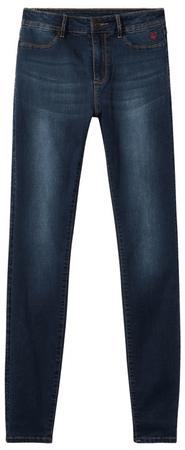 Desigual jeansy damskie Denim Basic 2nd Skin 25 ciemnoniebieskie