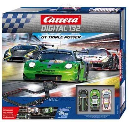 CARRERA Autodráha D132 30007 GT Triple Power