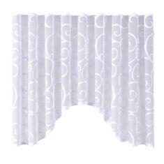 My Best Home Dekorační oblouková krátká záclona SCROLL bílá 300x150 cm