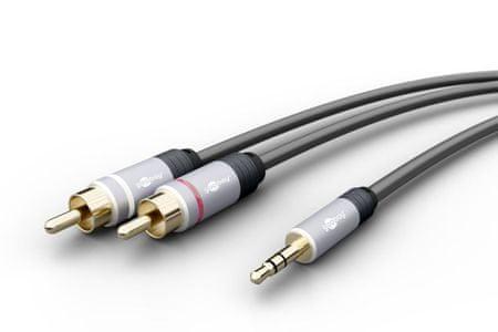 Goobay MP3 - Cinch avdio povezovalni kabel, 1,5 m