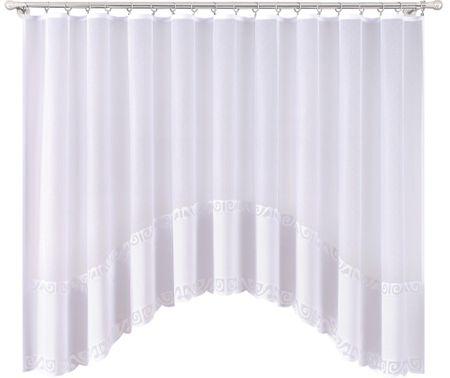 My Best Home Dekoračná oblúková krátka záclona PROSTA biela 300x150 cm