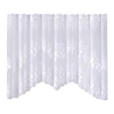 My Best Home Dekorační oblouková krátká záclona ILONA bílá 300x150 cm