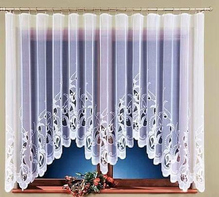 My Best Home Dekoratív ívelt rövid függöny JUSTI fehér 300x150 cm