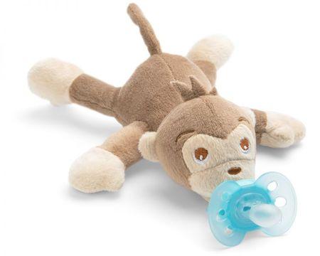 Philips Avent plišasta igrača z dudo, opica