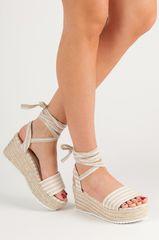 Stylomat Proužkované sandály na klínu